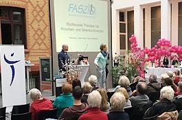 """Vortrag zum Thema """"Myofasziale Therapie bei Knochen- und Gelenkschmerzen"""" auf dem Brustkrebs-Patiententag des Jerusalem Krankenhaus Hamburg"""